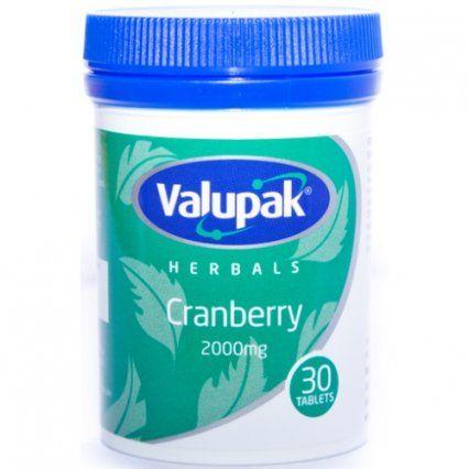 VALUPAK CRANBERRY 2000MG  30
